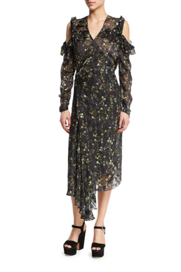 Preen by Thornton Bregazzi Alberta Floral Midi Dress