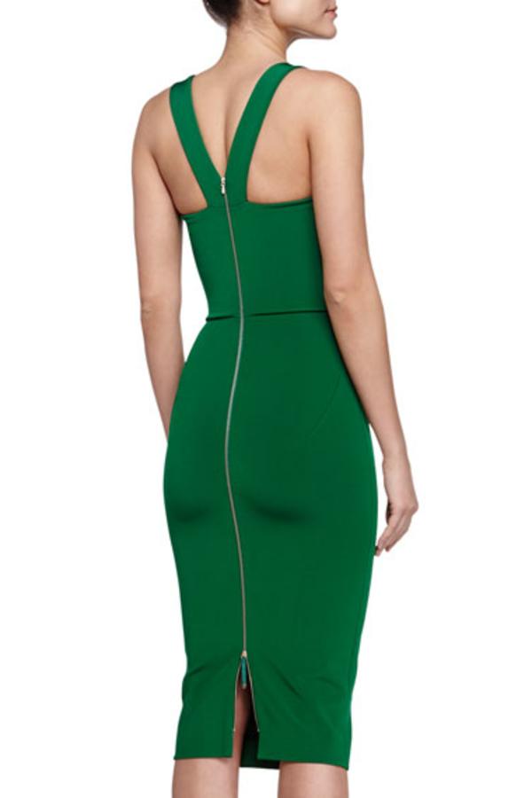 Victoria Beckham V-Back Ponte Sheath Dress 2