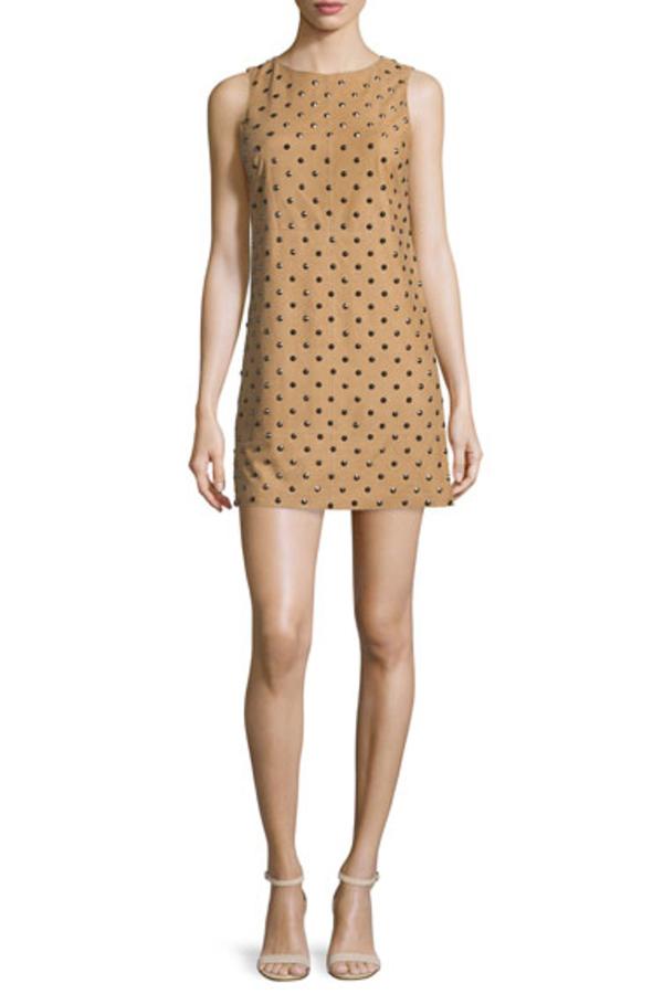 Alice + Olivia Clyde Studded Suede Dress 2