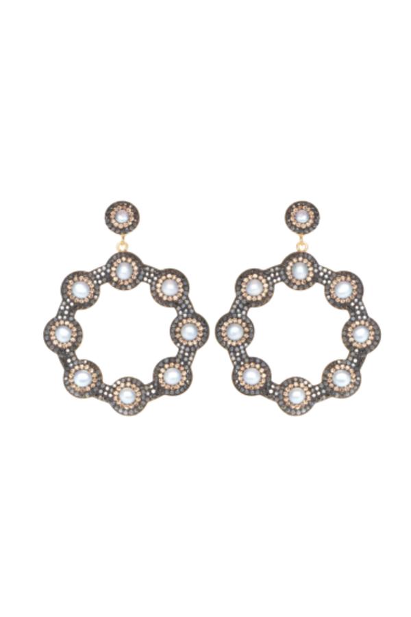 SORU Baroque Pearl Hoop Earrings