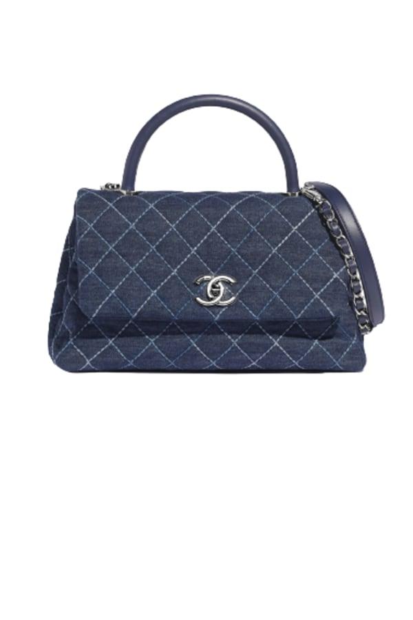 Image 1 of Chanel denim top handle bag