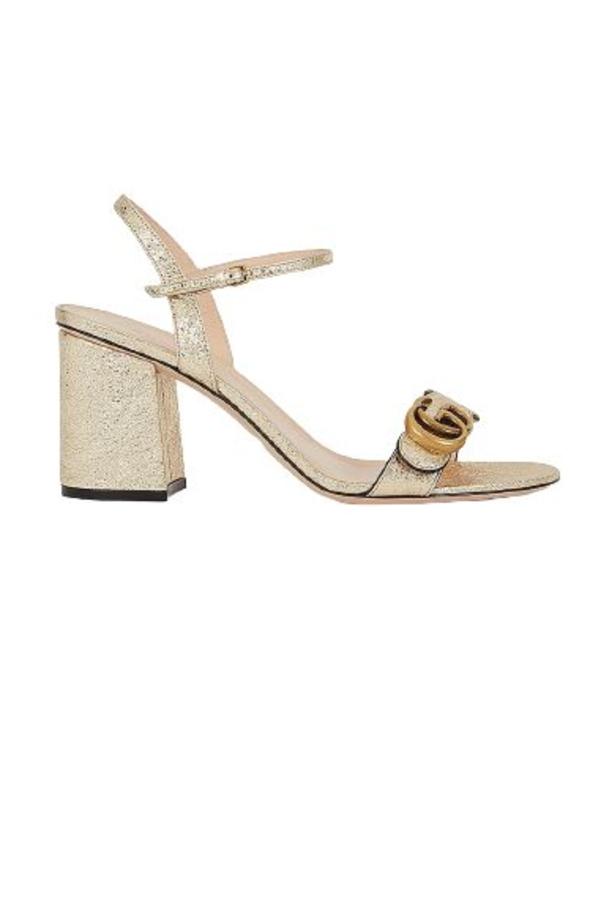 Gucci Metallic laminate sandals