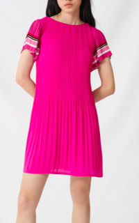 Maje Pink Pleats 2 Preview Images