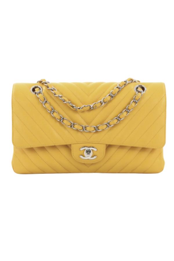 Chanel Double Flap Chevron Bag