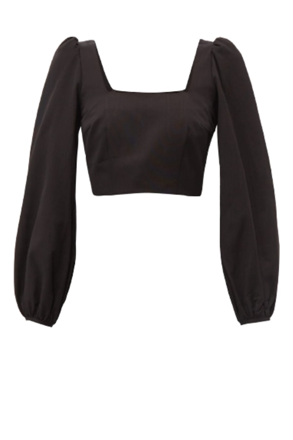 Image 1 of Racil pat moiré cropped top