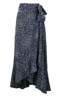 Ganni Barra floral-print crepe skirt Preview Images