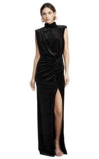Ronny Kobo Velvet Studded Maxi Dress 2 Preview Images