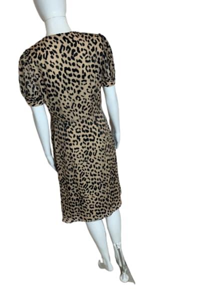 Alice + Olivia Rosette leopard-print dress 4