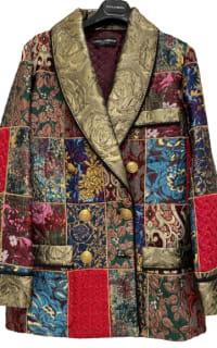 Dolce & Gabbana Brocade & Silk Blazer Preview Images