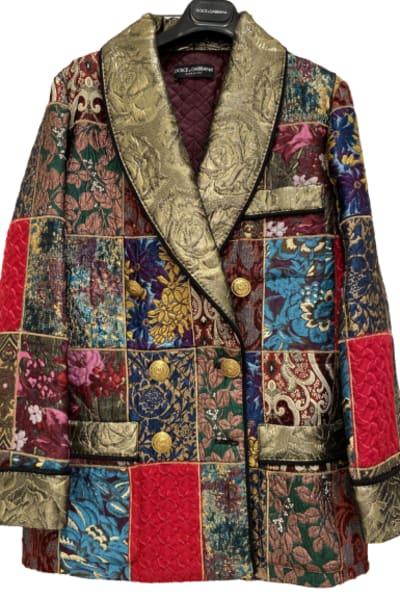 Dolce & Gabbana Brocade & Silk Blazer