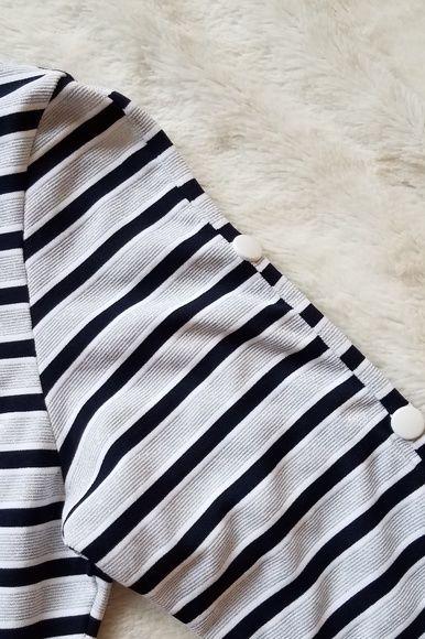 Melissa Odabash Black Jamie Striped Stretch-Jersey Mini Dress 5 Preview Images