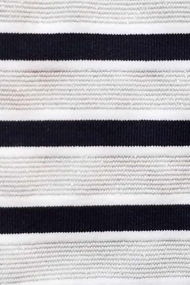Melissa Odabash Black Jamie Striped Stretch-Jersey Mini Dress 4 Preview Images