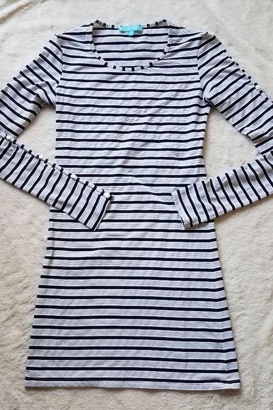 Melissa Odabash Black Jamie Striped Stretch-Jersey Mini Dress 6 Preview Images
