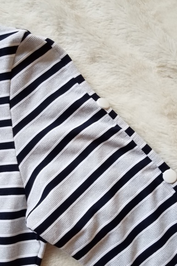 Melissa Odabash Black Jamie Striped Stretch-Jersey Mini Dress 5