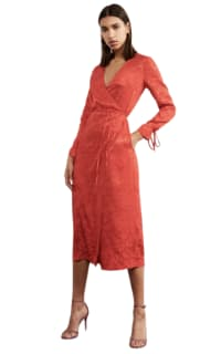 Kitri Odile Red Wrap Dress 4 Preview Images