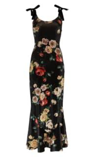 The Attico Velvet Midi Floral Dress Preview Images
