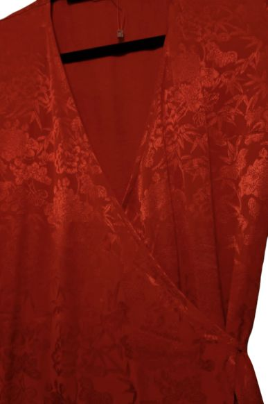 Kitri Odile Red Wrap Dress 3 Preview Images