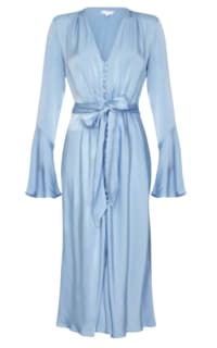 Ghost Blue Satin Dress Preview Images