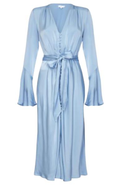 Ghost Blue Satin Dress