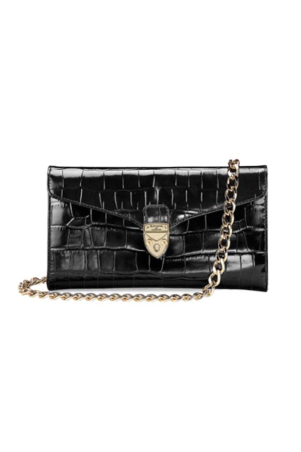 Aspinal of London Black Clutch Bag