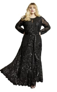 Anna Scholz Sequin Maxi Gown Preview Images