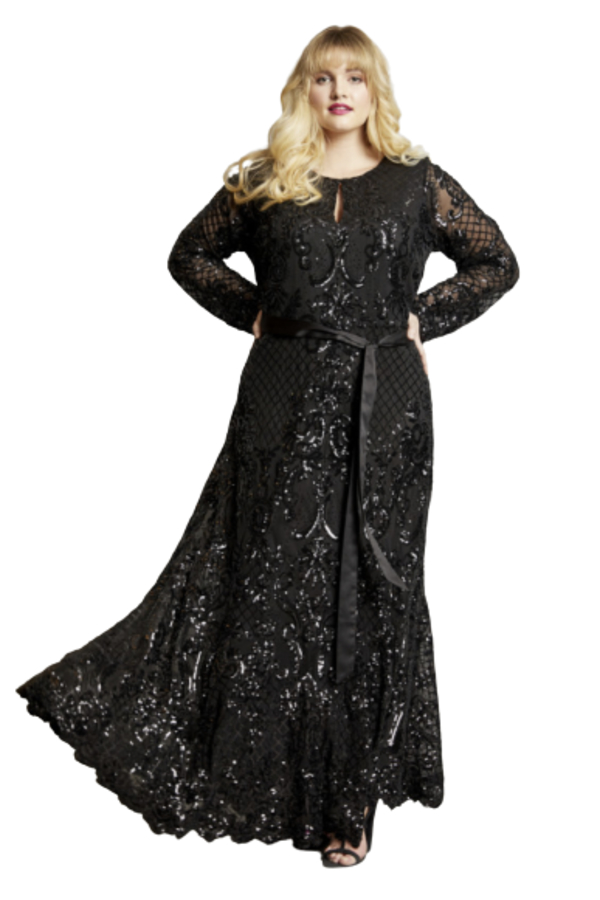 Anna Scholz Sequin Maxi Gown