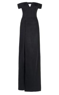 Galvan Satin Back Crepe Dress Preview Images