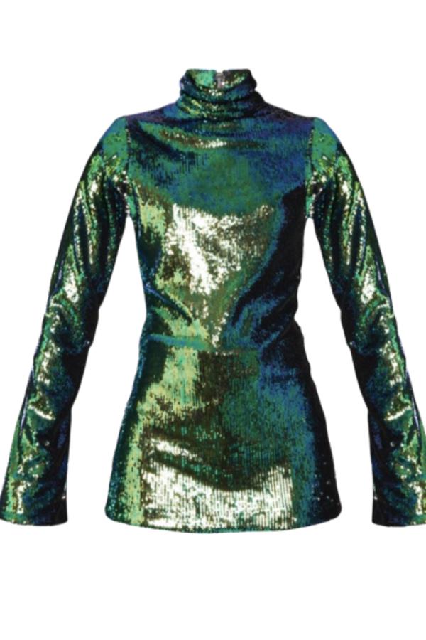 Halpern Sequin Embellished Top