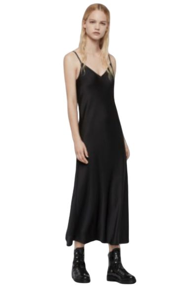 AllSaints Karla slip 2-in-1 dress Preview Images
