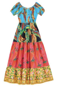 Farm Rio The Mix Maxi Dress Preview Images