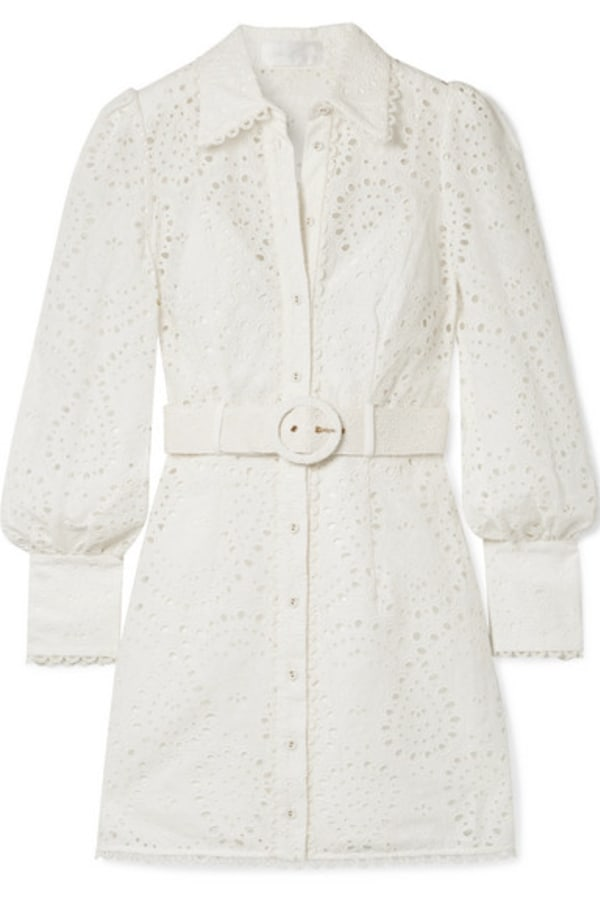 Zimmermann Belted broderie anglaise mini 0 Preview Images