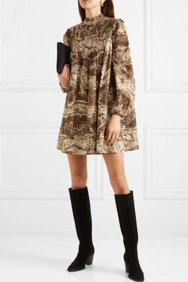 Image 3 of Ganni cotton poplin mini dress
