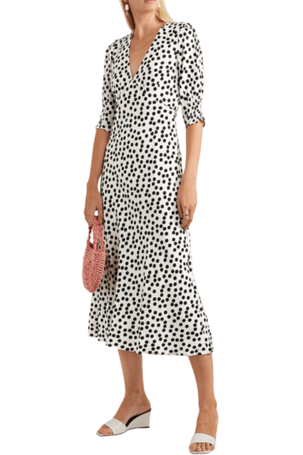 Image 2 of Rixo zadie polka-dot dress
