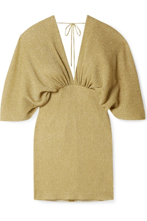 Image 1 of Rotate metallic stretch knit dress