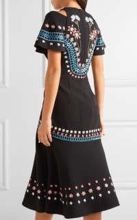 Temperley London Juniper cutout embroidered crepe dress Preview Images