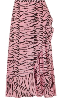 RIXO London Gracie ruffled printed silk crepe de chine wrap skirt 2 Preview Images