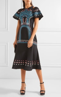 Temperley London Juniper cutout embroidered crepe dress 3 Preview Images
