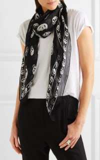 Alexander McQueen Printed silk-chiffon scarf 2 Preview Images