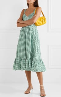 Reformation Dolls green gingham dress 4 Preview Images