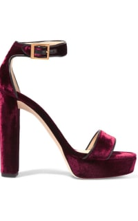 Jimmy Choo Holly 120 Heel in Burgundy Velvet 2 Preview Images