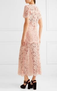 Ganni Duval corded lace midi dress 4 Preview Images