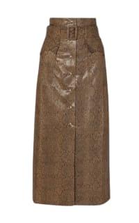 Nanushka Aarohi snake-effect skirt Preview Images