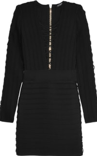 Balmain Lace-Up Bodycon Dress 2 Preview Images