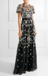 Needle & Thread PPETAL EMBELLISHED TULLE GOWN 4 Preview Images