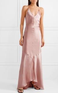 Michael Lo Sordo Asymmetric Silk Satin Dress 3 Preview Images