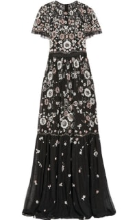 Needle & Thread PPETAL EMBELLISHED TULLE GOWN Preview Images