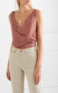Cloe Cassandro Santi cropped print silk top 4 Preview Images