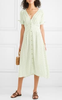Faithfull The Brand Billie polka-dot crepe midi dress 2 Preview Images