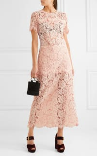 Ganni Duval corded lace midi dress 3 Preview Images
