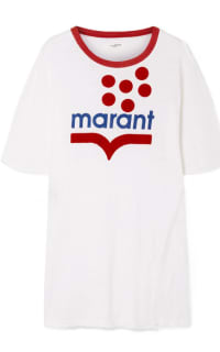 Isabel Marant Linen-jersey T-shirt Preview Images